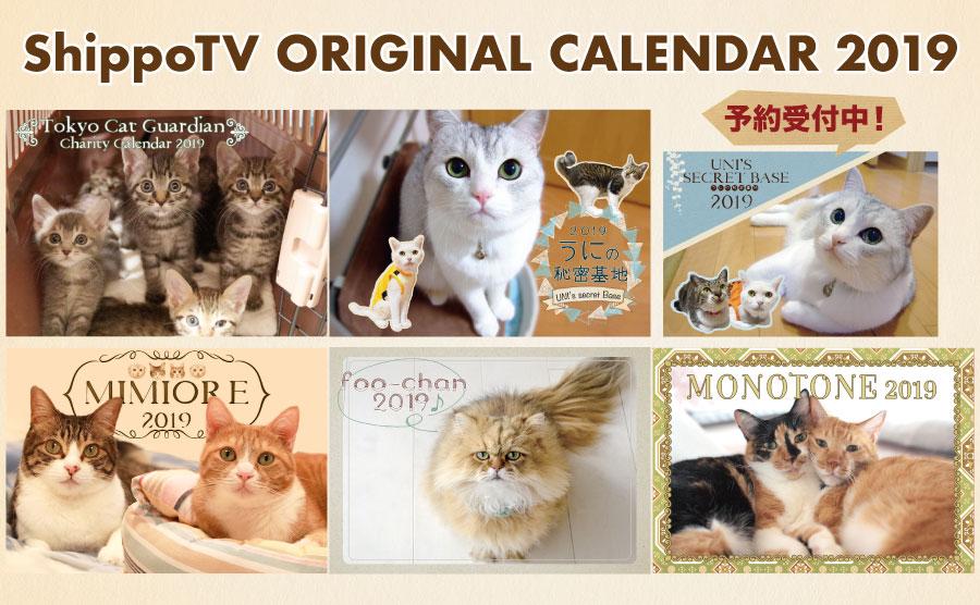 お買い物でレスキュー!ShippoTV通販部オリジナル2019年カレンダー